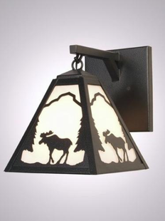 TIMBER RIDGE RUSTIC STEEL MOOSE PENDANT