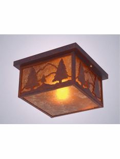 "TIMBER RIDGE SQUAROKA CEILING MOUNT -8""H X 14"" X 14""W"