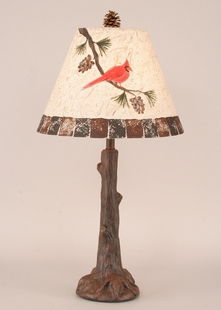 TREE TRUNK CARDINAL TABLE LAMP