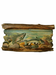 TROUT STREAM WALL INTARSIA