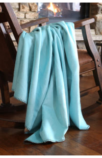 Turquoise Suede Throw
