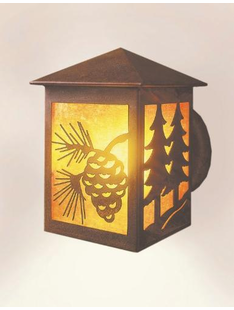 TWIN TREE PEAKED PINECONE WALL SCONCE
