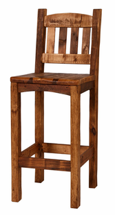 "WEATHERED TIMBER 24"" BARSTOOL W/BACK"