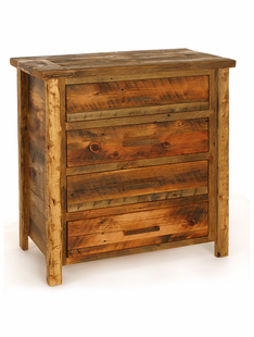 WEATHERED TIMBER 4 DRAWER CHEST