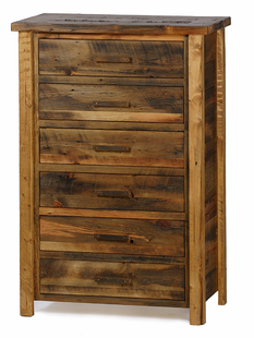 WEATHERED TIMBER 6 DRAWER CHEST