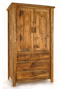 WEATHERED TIMBER ARMOIRE