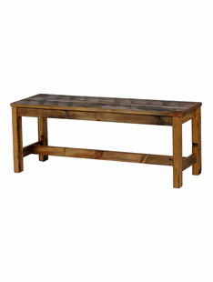 WEATHERED TIMBER BENCH 56""