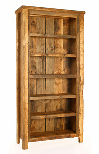 WEATHERED TIMBER BOOKCASE