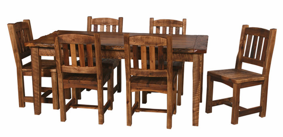 WEATHERED TIMBER DINING TABLE 42 X 72