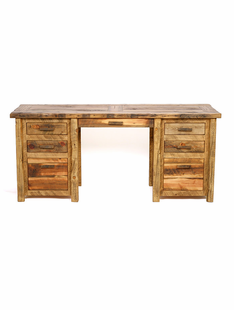 WEATHERED TIMBER EXECUTIVE DESK
