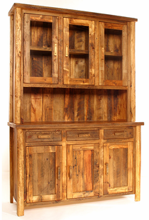 WEATHERED TIMBER MEDIUM BUFFET AND HUTCH