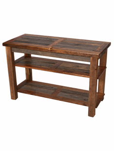WEATHERED TIMBER OPEN TV STAND