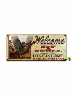 WELCOME PERSONALIZED SIGN- TURKEY