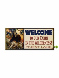 WELCOME TO OUR CABIN PERSONALIZED BEAR SIGN