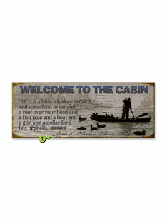 WELCOME TO THE CABIN PERSONALIZED SIGN
