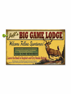 WELCOME TO THE LODGE- DEER PERSONALIZED SIGN
