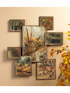 Whitetail Deer Collage Wall Art