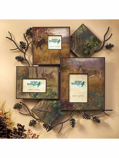 Whitetail Deer/ Pine Branch- Wall Collage Picture Frame