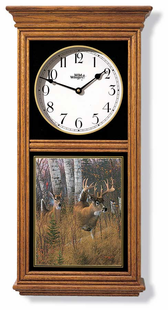 WHITETAIL DEER REGULATOR CLOCK OAK OR BLACK