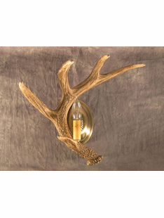 WHITETAIL SINGLE ANTLER FAUX SCONCE
