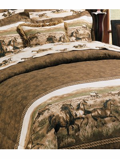 WILD HORSES BED SET TWIN