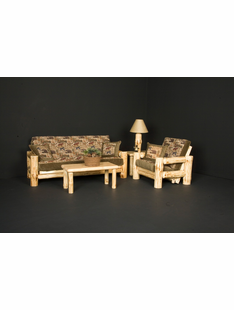 WILDERNESS LOG FUTON LOVESEAT