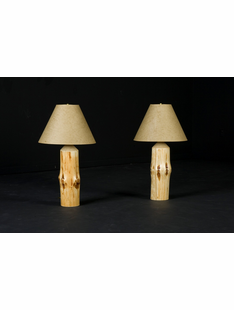 WILDERNESS TABLE LAMP W/ TAN SHADE