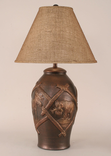 WILDLIFE POT TABLE LAMP