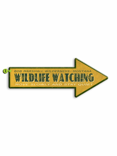 WILDLIFE WATCHING ARROW PERSONALIZED SIGN