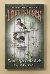 WOOD DUCKS WELCOME SIGN