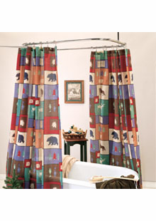 WOODS SHOWER CURTAIN
