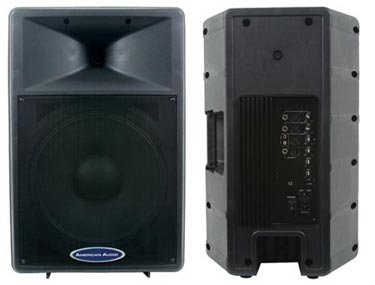 american audio dls 15p 15 inch 2 way powered speaker. Black Bedroom Furniture Sets. Home Design Ideas