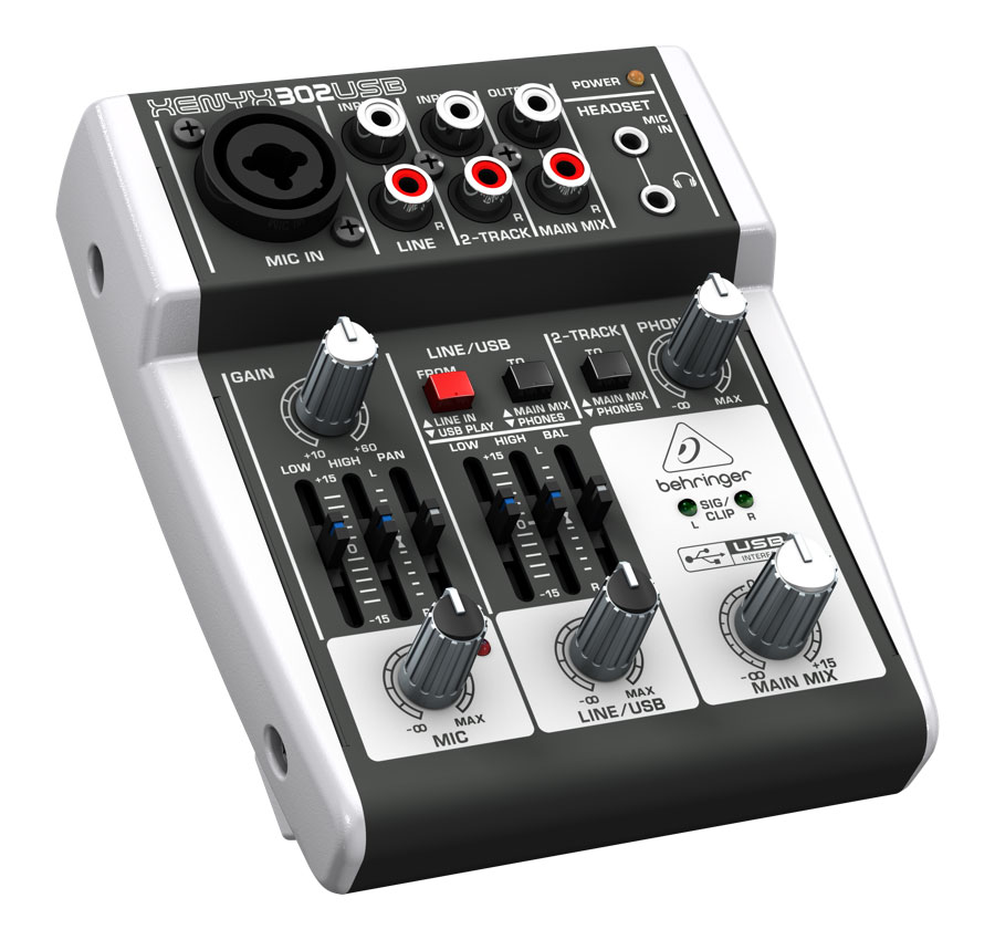 behringer 302usb premium 5 input mixer with xenyx mic preamp and usb audio interface. Black Bedroom Furniture Sets. Home Design Ideas