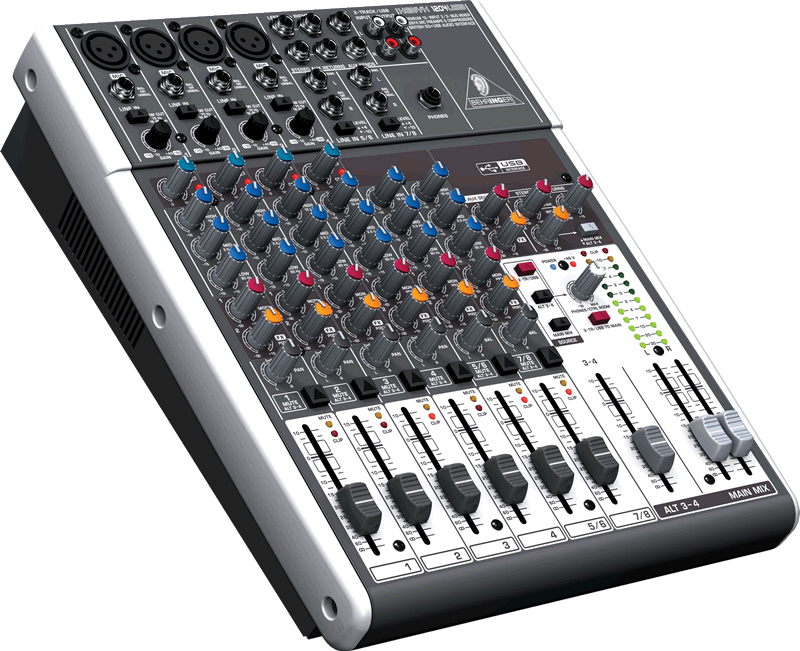 behringer xenyx x1204usb premium 12 input 2 2 bus mixer with xenyx mic preamps compressors. Black Bedroom Furniture Sets. Home Design Ideas