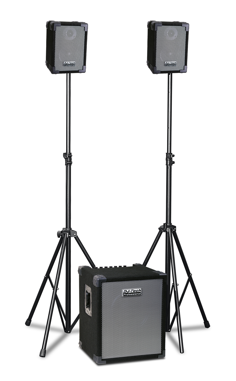 dj tech cube 202 280 watts portable pa system with 4 ch mixer built in. Black Bedroom Furniture Sets. Home Design Ideas