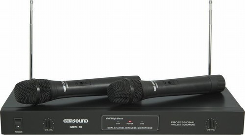 gem sound gmw 61 wireless duo wireless microphone system. Black Bedroom Furniture Sets. Home Design Ideas