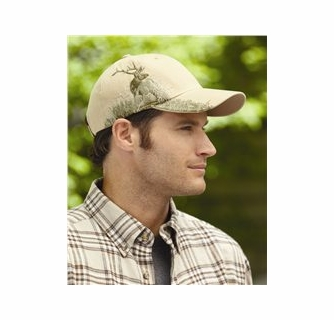 Moose Embroidered Cotton Cap NEW Wildlife Hat