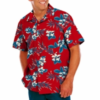 Personalized Adult Hibiscus Print Camp Shirt