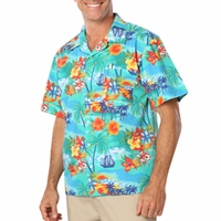 Personalized Adult Tropic Print Camp Shirt