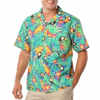 Personalized Adult Tucan Print Camp Shirt