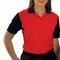 Personalized Blue Generation Ladies IL-50 Colorblock Polo Shirt - Red