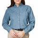 Personalized Blue Generation Ladies' Long Sleeve Premium Denim Shirt