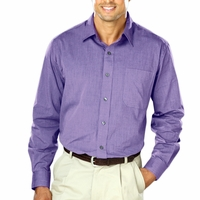 Personalized Blue Generation Men's Heathered Crossweave Shirt