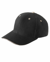 Personalized Yupoong Adult Brushed Cotton Twill 6-Panel Mid-Profile Sandwich Cap