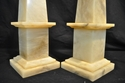 Alabaster obelisks
