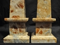 Antique Italian Brown Marble Obelisks