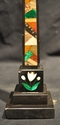Ashford marble obelisk - geometric and floral inlays