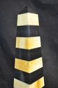 Cream & black marble striped obelisk