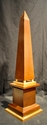 Faux Wood Metal Obelisk