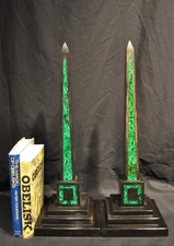 Antique Grand Tour Marble & Malachite Obelisks